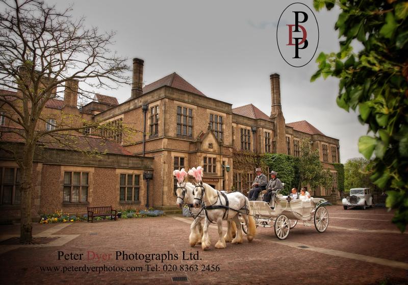 Fanhams Hall, Court Yard. Wedding Photography