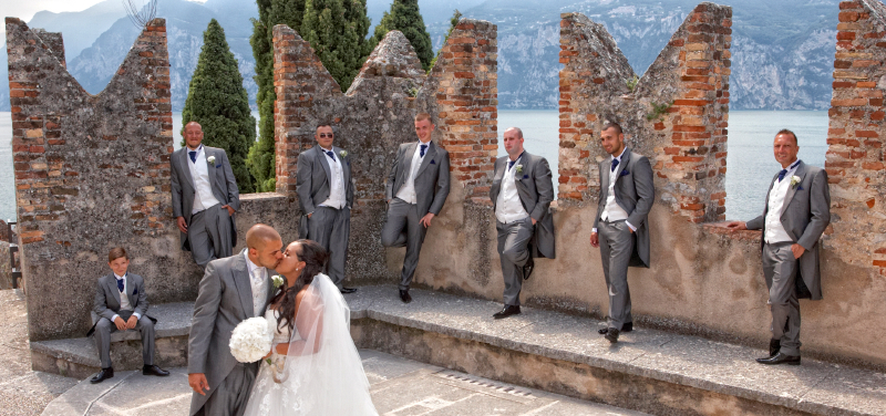 Lake Garda wedding photographs