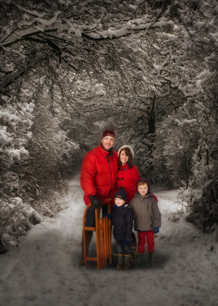 Christmas card photo shoot by Peter Dyer photographs.